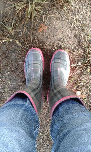 Sometime you have to trade in your cowboy boots for rain boots